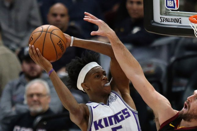 De'Aaron Fox and the Sacramento Kings take on the Atlanta Hawks on Thursday. Photo by Aaron Josefczyk/UPI