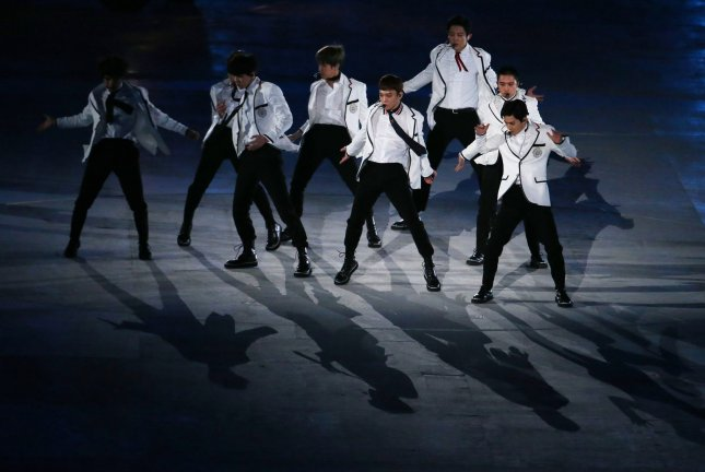 Chinese singers who debuted in South Korea, including Lay Zhang Yixing, a former member of boy band EXO, have commented on Chinese involvement in the Korean War. File Photo by Matthew Healey/UPI