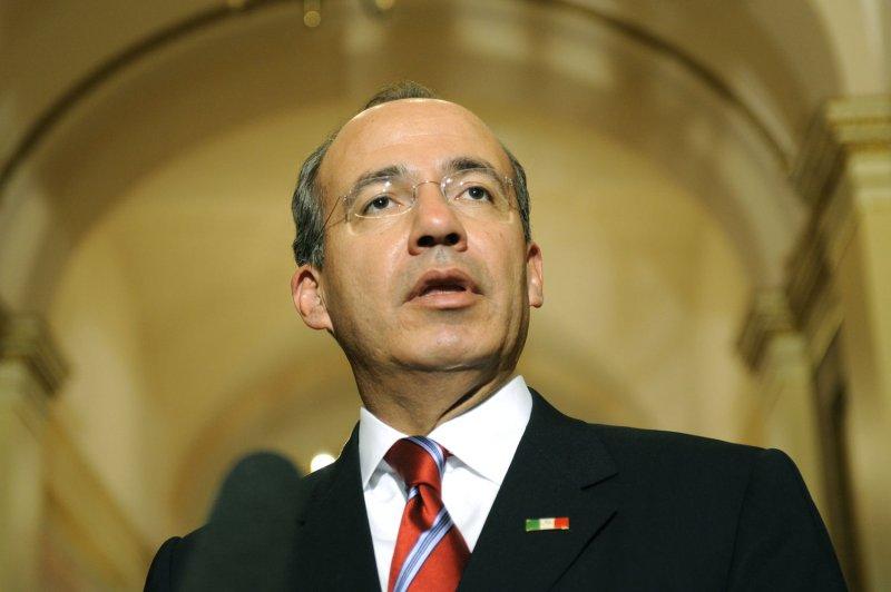 Mexican President Felipe Calderon (UPI Photo/Kevin Dietsch)