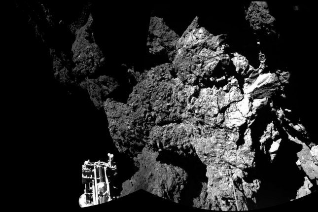 In the wake of ESA's successful comet landing, NASA is forging ahead with plans to land on and mine asteroids. UPI/ESA/Rosetta/CIVA