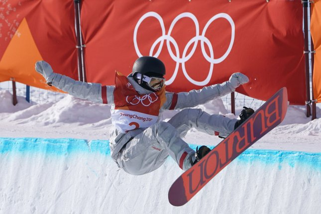 American Kelly Clark competes in the Ladies Halfpipe qualification at the 2018 Pyeongchang Winter Olympics on February 12 at the Phoenix Snow Park in Pyeongchang, South Korea. Photo by Kevin Dietsch/UPI