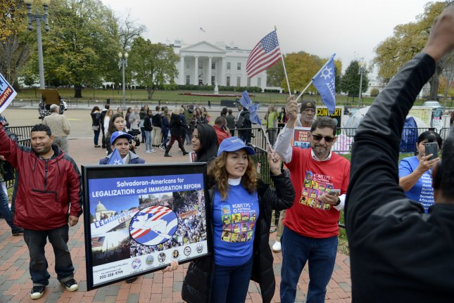 Immigration activists stage a demonstration outside the White House, File Photo by Mike Theiler/UPI