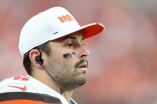 Cleveland Browns quarterback Baker Mayfield has invited his teammates to his hometown of Austin, Texas, to prepare for the 2020 NFL season. File Photo by Aaron Josefczyk/UPI