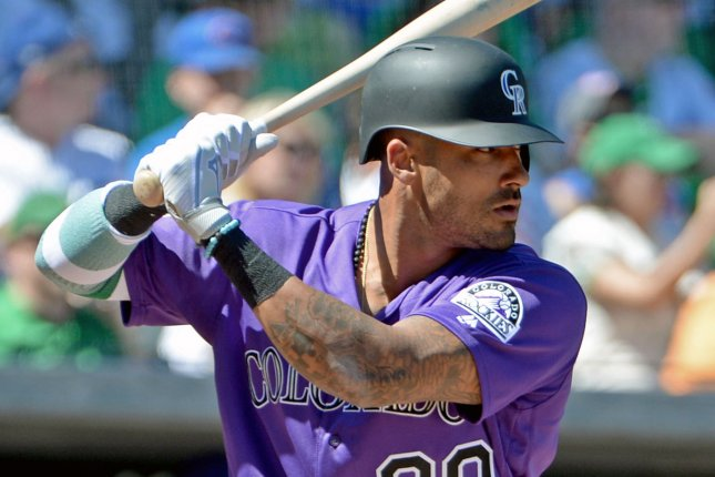 Colorado Rockies outfielder Ian Desmond had a .255 batting average with 20 home runs and 65 RBIs in the 2019 campaign, his third in Colorado. File Photo by Art Foxall/UPI