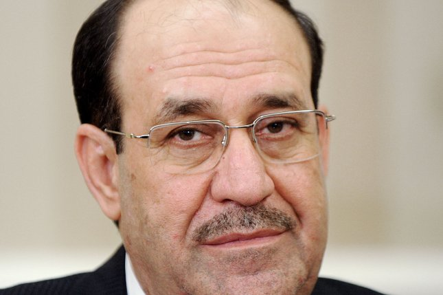 Iraqi Prime Minister Nouri Al-Maliki looks on during a meeting with U.S. President Barack Obama in the Oval Office at the White House November 1, 2013 in Washington, DC. (UPI/Olivier Douliery/Pool)