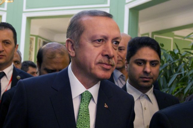 Turkish Prime Minister Recep Tayyip Erdogan is refusing to change his country's anti-terror laws. File Photo by Maryam Rahmanian/UPI