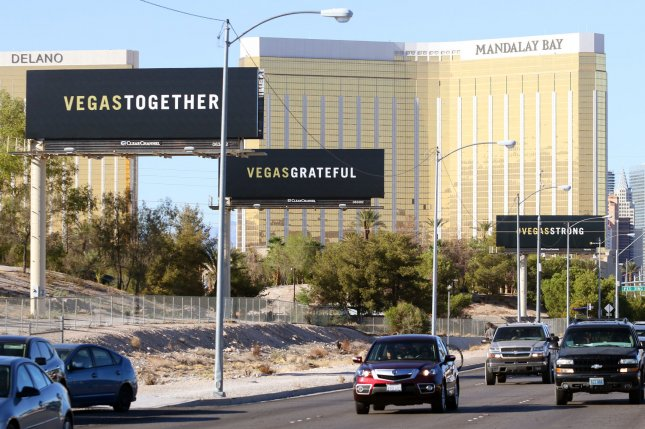 Clark County, Nev., Sheriff Joe Lombardo said police are investigating one person other than gunman Stephen Paddock and his girlfriend, Marilou Daniel. File Photo by Ronda Churchill/UPI