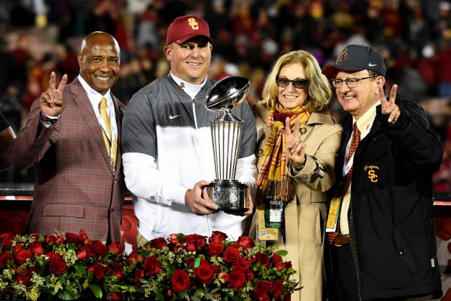 USC agrees to contract extension with coach Clay Helton through 2023 season