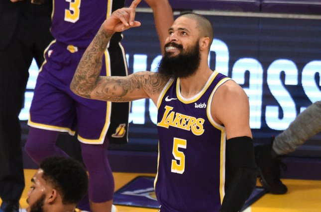Tyson Chandler averaged 3.1 points and 5.6 rebounds in 55 games with the Phoenix Suns and Los Angeles Lakers last year. File Photo by Jon SooHoo/UPI