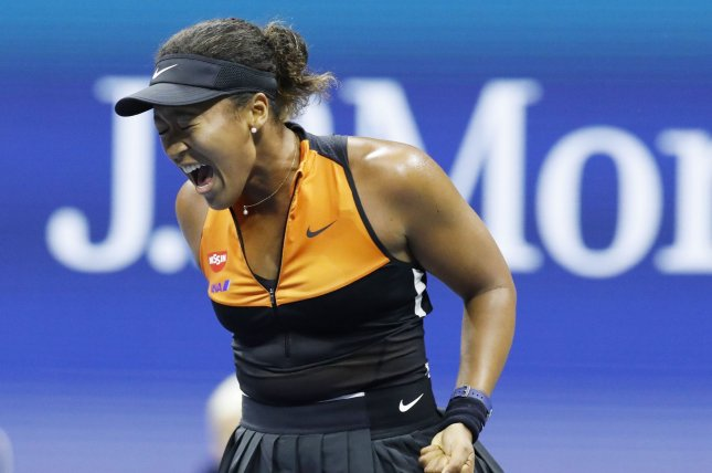 Winner Naomi Osaka of Japan reacts after winning a point before defeating Coco Gauff in the third round of the 2019 U.S. Open Tennis Championships on Saturday in Flushing, N.Y. Photo by John Angelillo/UPI