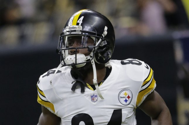Former Pittsburgh Steelers wide receiver Antonio Brown previously said he wouldn't play in the NFL again due to guaranteed money being taken away from him. File Photo by AJ Sisco/UPI