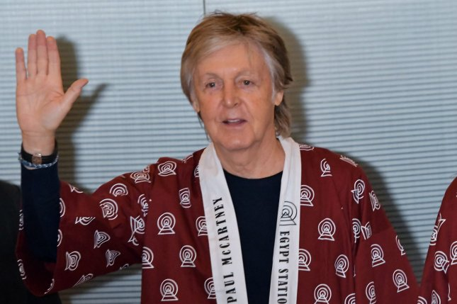 Paul McCartney will produce and create original songs and music for an adaptation of his children's book High in the Clouds. File Photo by Keizo Mori/UPI