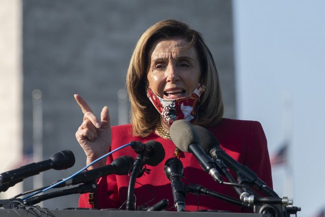 House Speaker Nancy Pelosi said it is now time for the Republicans to negotiate on a new COVID-19 relief package after the Democrats reduced their ask by $1 trillion. Photo by Pat Benic/UPI