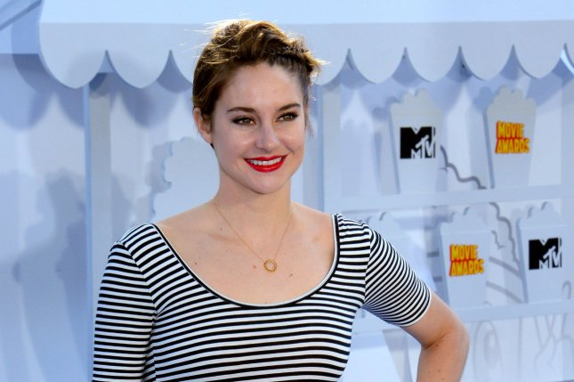 Shailene Woodley at the MTV Movie Awards on April 12. The actress stars in a first 'Allegiant' teaser trailer. File photo by Jim Ruymen/UPI