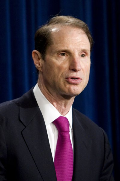 Sen. Ron Wyden, D-Ore., seen here in 2008, is among several Democratic senators who introduced a bill Thursday that would stop the federal government from dipping into Social Security benefits to pay outstanding federal debts, like student loans. File photo by Patrick D. McDermott/UPI
