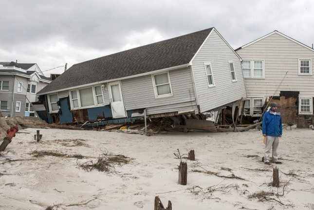 Federal government says it has better data on sediments in the wake of Hurricane Sandy in 2012. The hurricane caused the equivalent of 30 years of beach erosion. File Photo by John Anderson/UPI