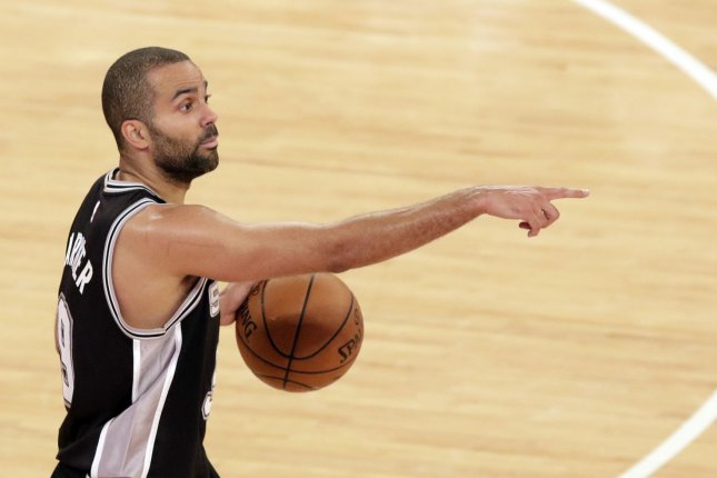 Longtime NBA point guard Tony Parker spent all but one season with the San Antonio Spurs before he retired Monday. File Photo by John Angelillo/UPI