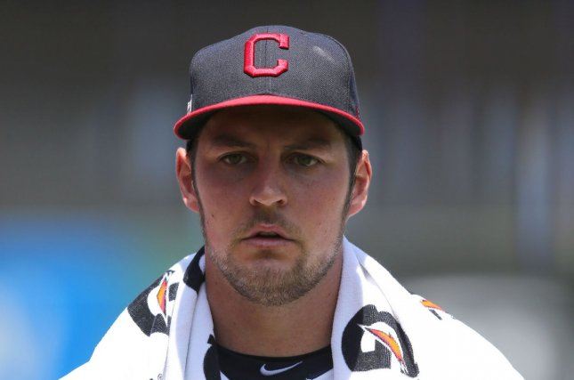 Cleveland Indians starting pitcher Trevor Bauer gave up seven earned runs on nine hits with four walks in 4 1/3 innings Sunday. File Photo by Aaron Josefczyk/UPI