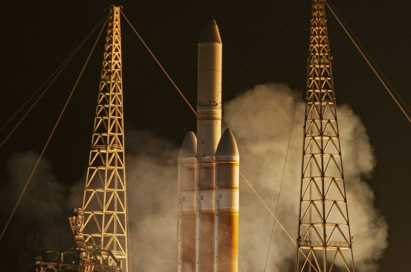 ULA launches spy satellite on Delta Heavy