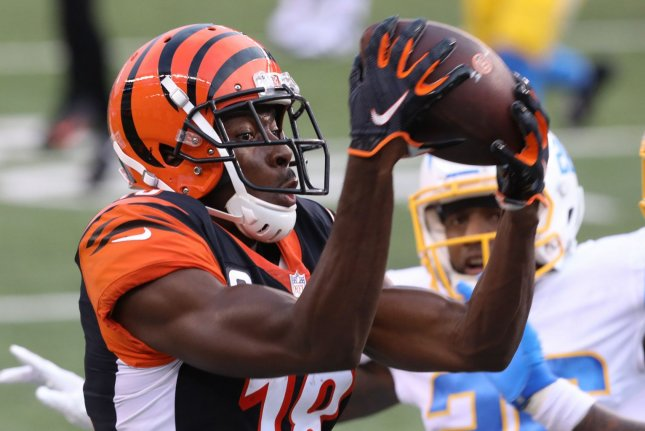 A.J. Green has played for the Cincinnati Bengals since 2011, but has agreed to join the Arizona Cardinals in free agency in 2021. File Photo by John Sommers II/UPI