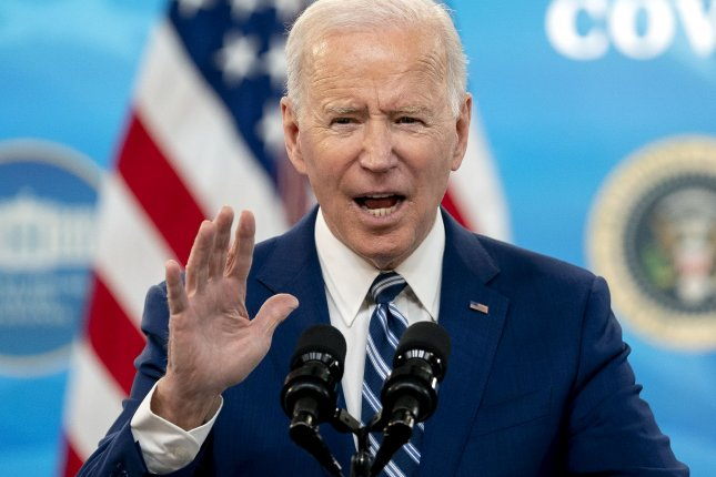 President Joe Biden, shown here on March 29, said Monday the nation can't lose sight of the substance abuse crisis in the United States. Pool Photo by Stefani Reynolds/UPI