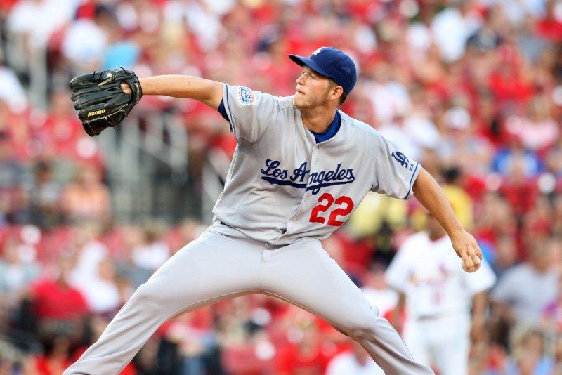 Los Angeles Dodgers pitcher Clayton Kershaw at Busch Stadium in St. Louis on July 15, 2010. UPI/Bill Greenblatt