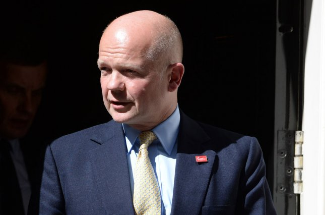 British Foreign Secretary William Hague (UPI/ Rune Hellestad)