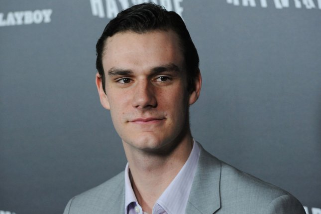 Hugh Hefner's son and Playboy heir Cooper Hefner attends the premiere of Haywire on January 5, 2012. Cooper has brought back nudity to Playboy calling the removal a mistake. File Photo by Jim Ruymen/UPI