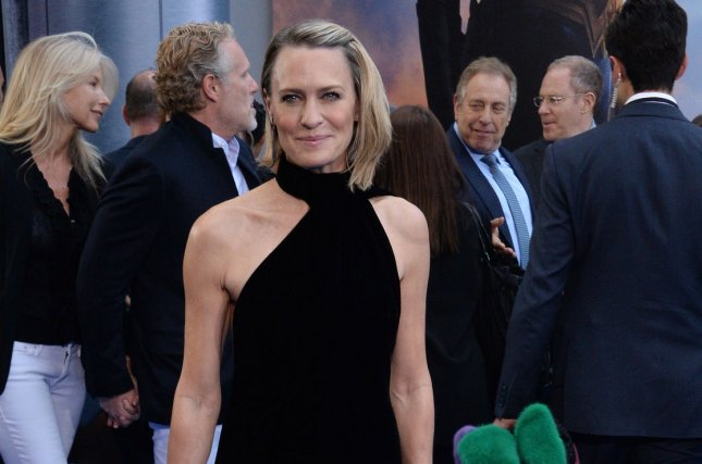 Robin Wright addresses Kevin Spacey's character in a new teaser for House of Cards Season 6. File Photo by Jim Ruymen/UPI