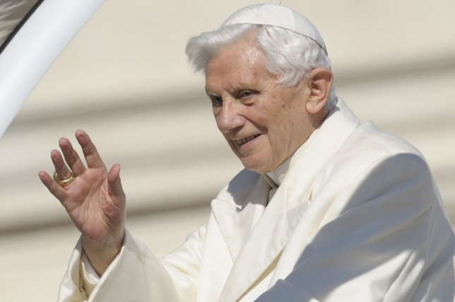 Pope Benedict XVI, shown here in 2013 wrote a letter addressing the sex abuse scandal within the Catholic church. File Photo UPI/Stefano Spanziani