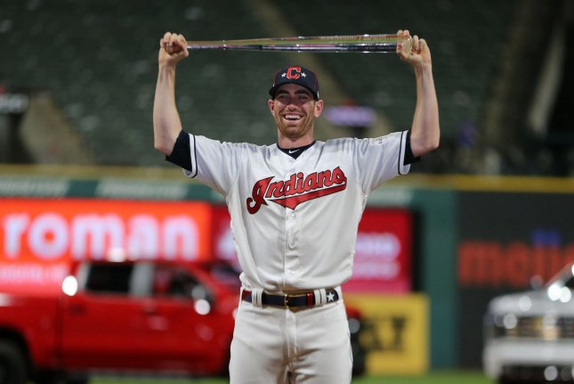 Cleveland Indians pitcher Shane Bieber became the second Indians player in franchise history to win All-Star Game MVP on Tuesday night. Photo by Aaron Josefczyk/UPI