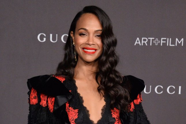 Zoe Saldana has joined From Scratch, a new limited series based on the Tembi Locke memoir, with Reese Witherspoon as executive producer. File Photo by Jim Ruymen/UPI