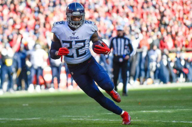 Tennessee Titans running back Derrick Henry has a great fantasy football schedule for the postseason and is my top option for Week 15. File Photo by Jason Hanna/UPI
