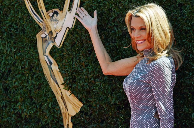 Wheel of Fortune star Vanna White arrives at the 44th Annual Daytime Emmy Awards at the Pasadena Civic Auditorium on April 30. Photo by Christine Chew/UPI