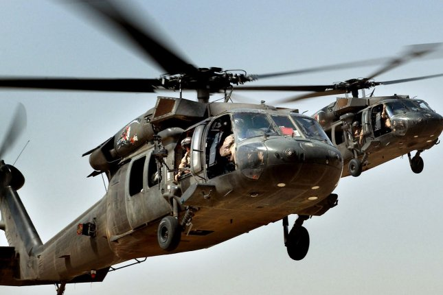A U.S. Army UH-60 Black Hawk helicopter crashed in Iraq Monday, killing one American service member, authorities said. File Photo by Russell Lee Klika/Dept of Defense/UPI