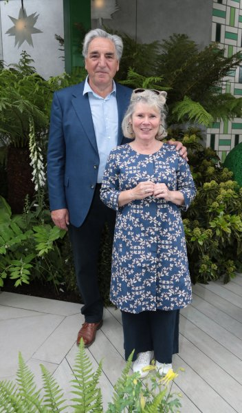 British Actors Jim Carter and Imelda Staunton at the Chelsea Flower Show in London on May 20. Staunton has signed on for a role in the new ITV series Flesh and Blood. Photo by Hugo Philpott/UPI