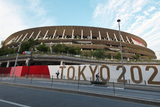 Japan's National Stadium will host the Opening Ceremony for the postponed 2020 Summer Games at 7 a.m. EDT Friday in Tokyo. File Photo by Keizo Mori/UPI