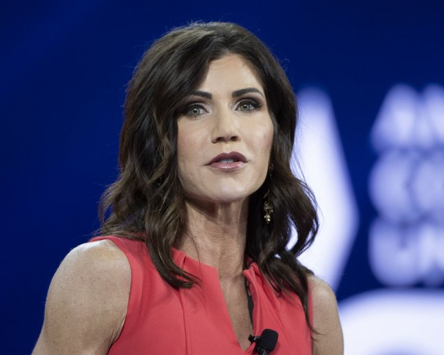 South Dakota Gov. Kristi Noem on Monday issued executive orders to ban transgender athletes from competing in girls' sports after killing legislation she says would have opened the state to lawsuits. Photo by Joe Marino/UPI