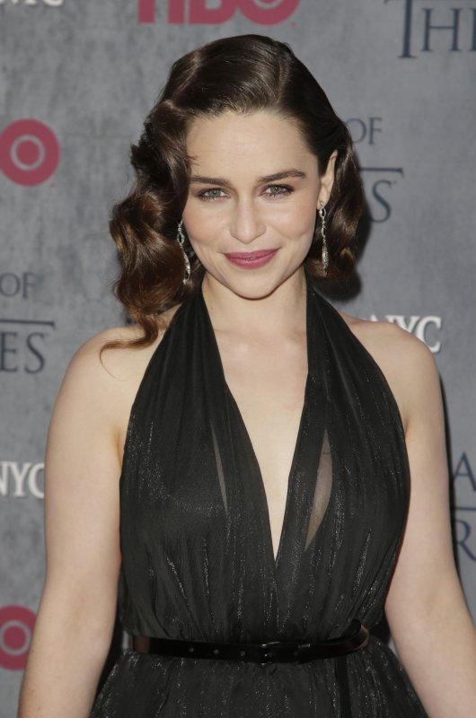 Emilia Clarke sang Rastafarian Targaryen for Game of Thrones: The Musical. File photo by John Angelillo/UPI