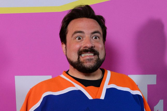 Director Kevin Smith attends the premiere of Life After Beth on August 8, 2014. Smith is now developing a television series based off the film Mallrats. File Photo by Jim Ruymen/UPI