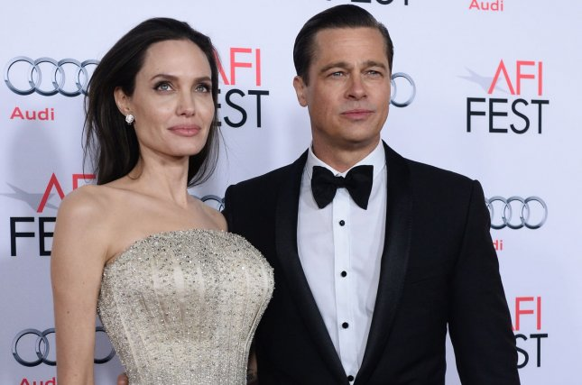 Angelina Jolie (L) and Brad Pitt attend the AFI Fest premiere of By the Sea on November 5, 2015. The actress opened up about her split from Pitt in the September issue of Vogue. File Photo by Jim Ruymen/UPI