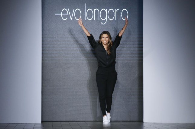 Eva Longoria closes her Eva Longoria Collection show at New York Fashion Week on Wednesday. Photo by John Angelillo/UPI
