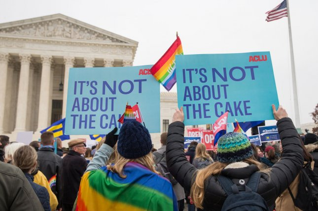 Fifty-seven percent of Americans oppose allowing small businesses to refuse services to LGBT people based on religious objections. File Photo by Erin Schaff/UPI
