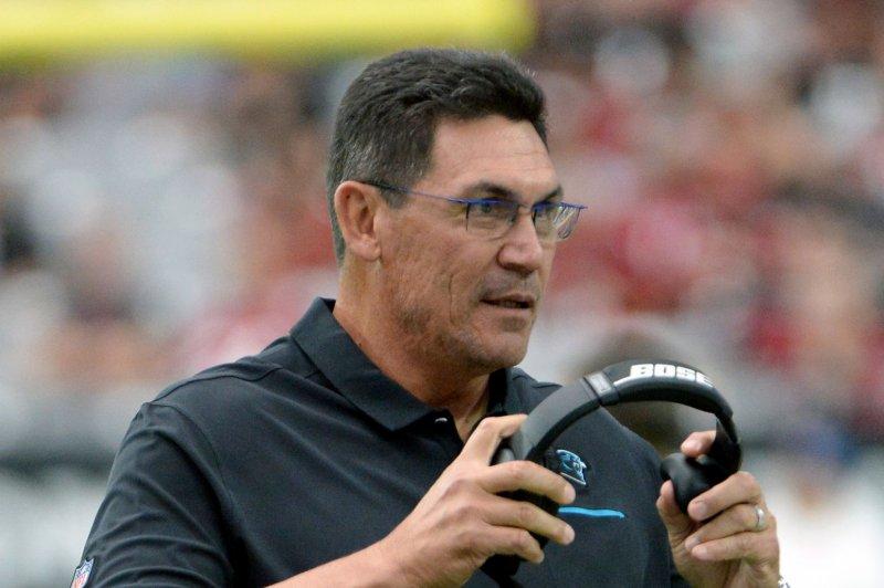 The Washington Redskins hired former Carolina Panthers head coach Ron Rivera in January. File Photo by Art Foxall/UPI