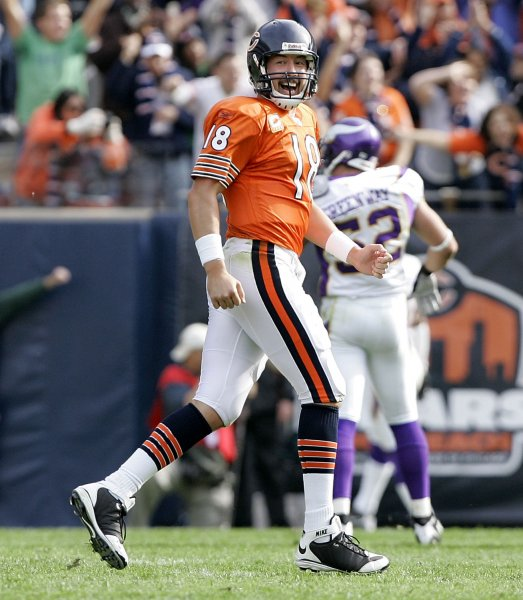 Chicago Bears quarterback Kyle Orton, shown in an Oct. 19, 2008, game. (UPI Photo/Brian Kersey)
