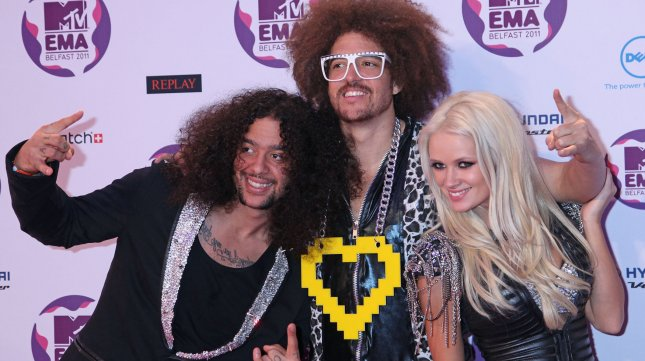LMFAO arrives on the red carpet after the MTV Europe Music Awards in Belfast, North Ireland on November 6, 2011. UPI/David Silpa