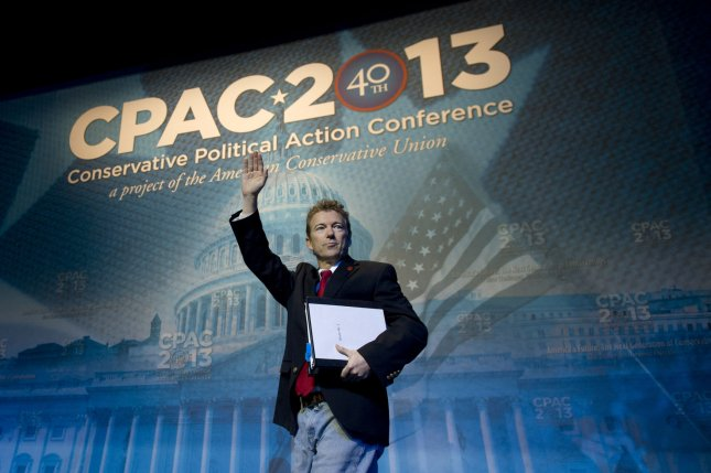 U.S. Sen. Rand Paul, R-Ky., at the 2013 Conservative Political Action Conference in National Harbor, Md., March 14, 2013. UPI/Kevin Dietsch
