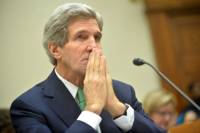 Secretary of State John Kerry, pictured in 2013, appealed on August 29, 2014 for the release of detained U.S. citizens in Iran and for Iran to assist in finding missing American Robert Levinson. (UPI/Kevin Dietsch)