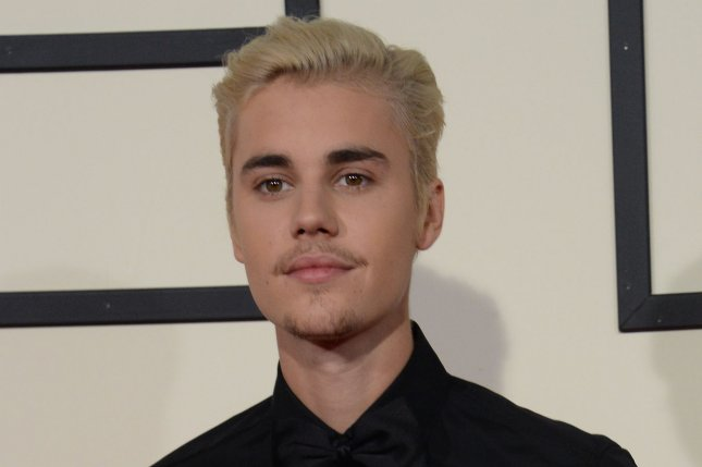 Justin Bieber at the Grammy Awards on February 15. File Photo by Jim Ruymen/UPI