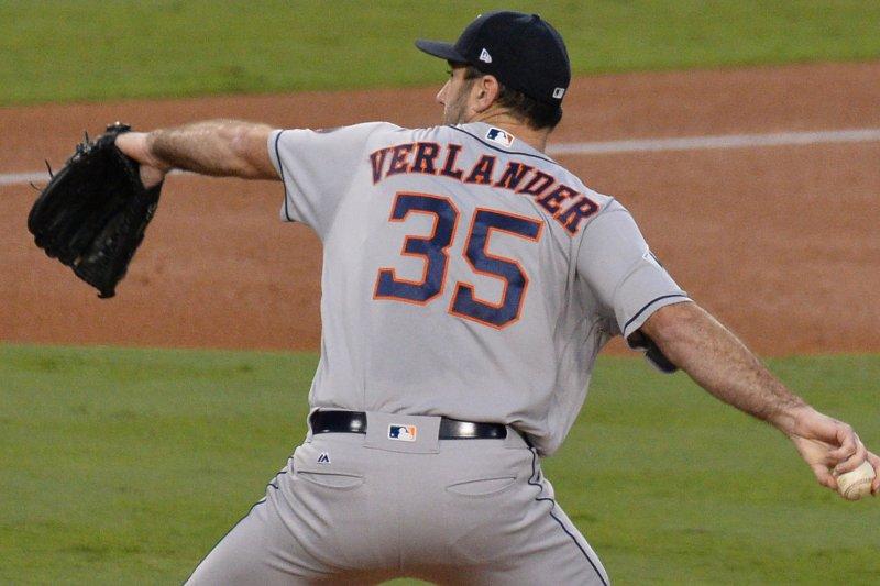 Houston Astros starting pitcher Justin Verlander. File photo by Jim Ruymen/UPI
